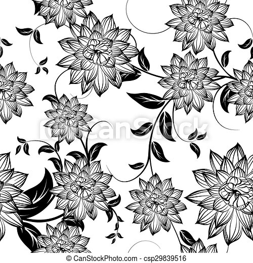 Seamless Floral Pattern - csp29839516