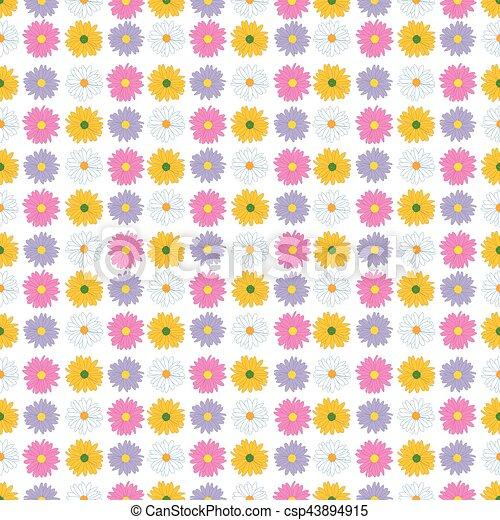 Seamless floral pattern. - csp43894915