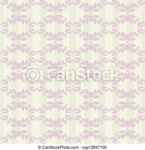 Seamless floral pattern - csp12847100