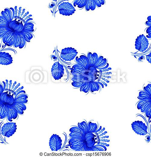Seamless floral pattern - csp15676906