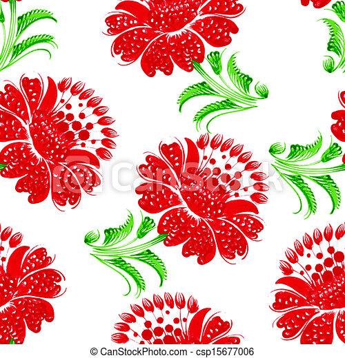 Seamless floral pattern - csp15677006