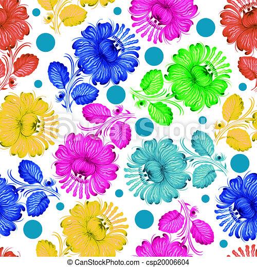 Seamless floral pattern - csp20006604
