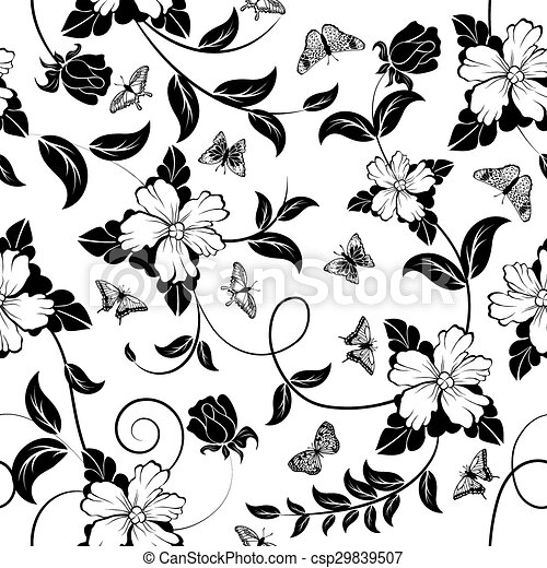 Seamless Floral Pattern - csp29839507