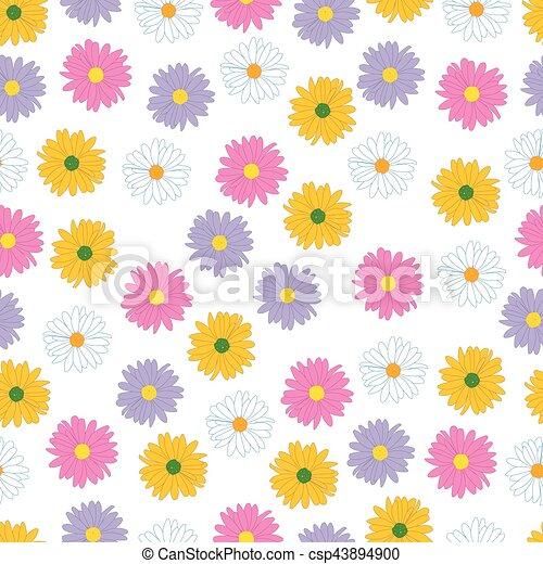 Seamless floral pattern. - csp43894900