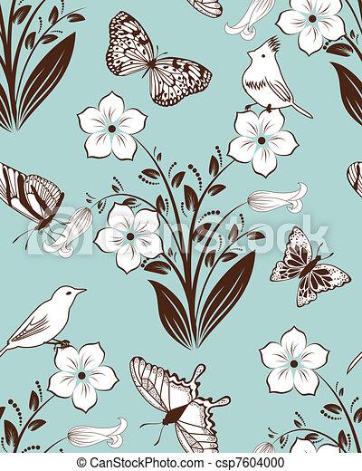 Seamless floral pattern - csp7604000