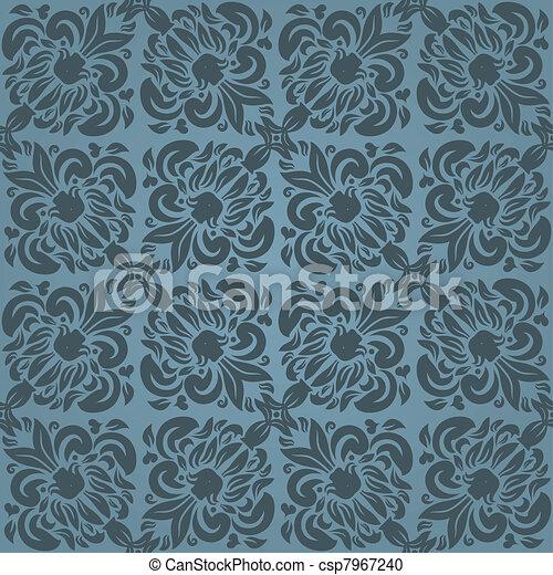 Seamless floral pattern - csp7967240