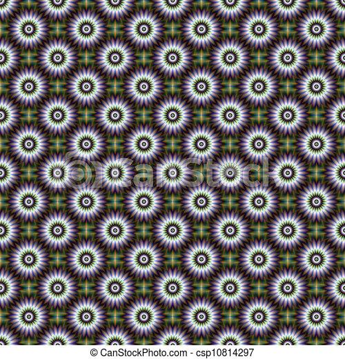 Seamless Floral Rosette - csp10814297