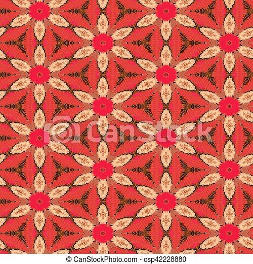 Seamless Floral Textile Pattern - csp42228880