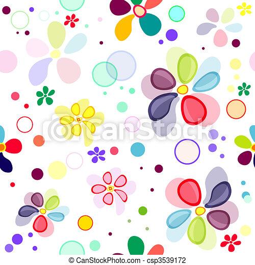 Seamless floral vivid pattern  - csp3539172