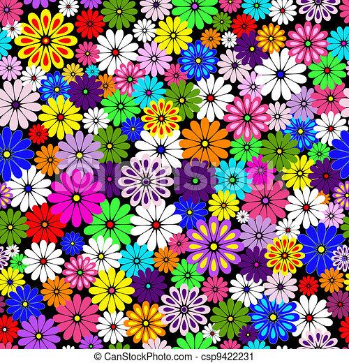 Seamless floral vivid pattern - csp9422231