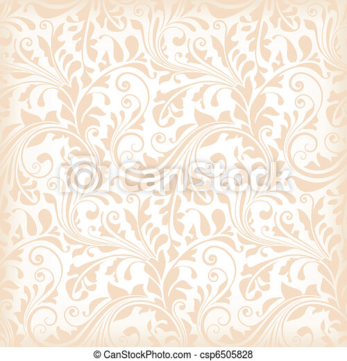 Seamless floral wallpaper - csp6505828
