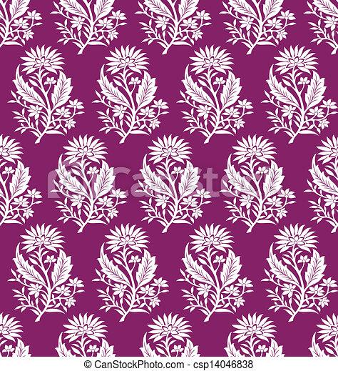 Seamless floral wallpaper - csp14046838
