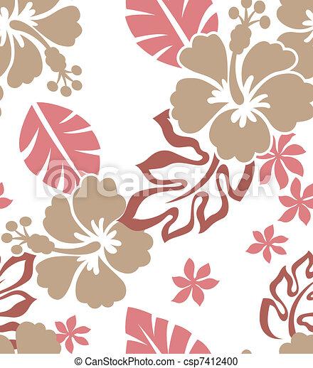 seamless flower fabric pattern - csp7412400