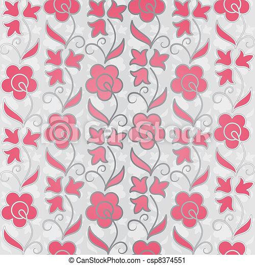seamless flower pattern background - csp8374551