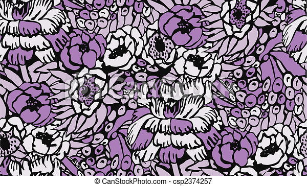 seamless flower pattern - csp2374257