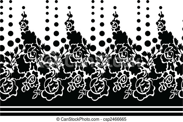 Line Drawing Flower Vector : Seamless flower rose wallpaper clipart vector search illustration