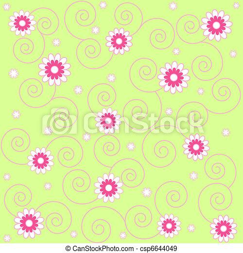 Seamless flowers - csp6644049