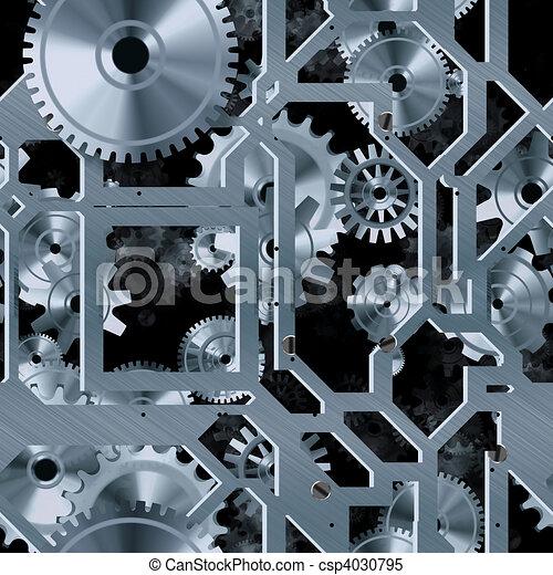 seamless, fondo, meccanico - csp4030795