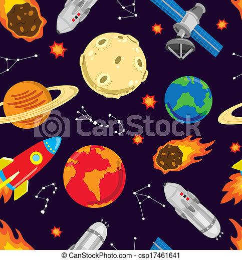 seamless, fondo, spazio - csp17461641