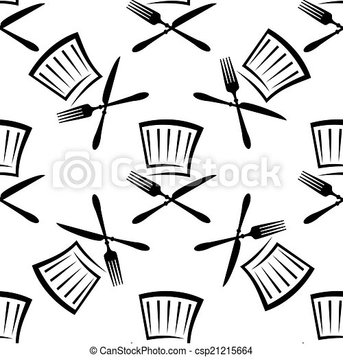 Seamless food and beverage background pattern with a black ...  Seamless food a...