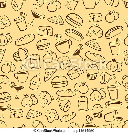 Seamless Food And Drink Background