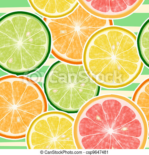 Seamless fruits background - csp9647481