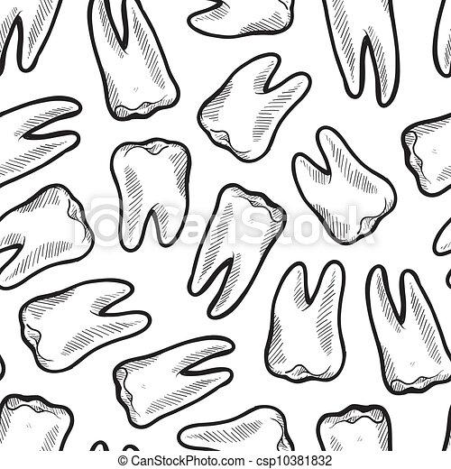 seamless, fundo, odontologia - csp10381832