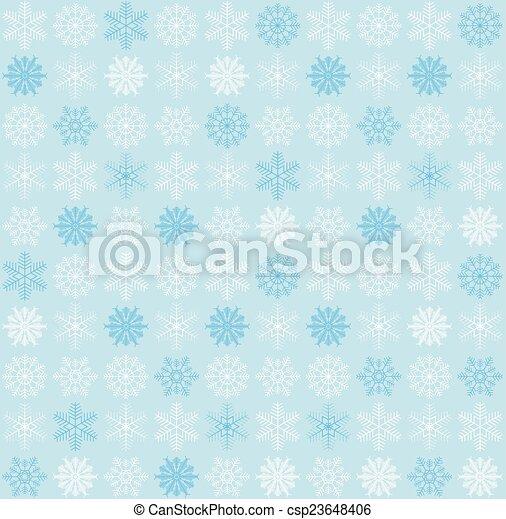 seamless, fundo, snowflake - csp23648406