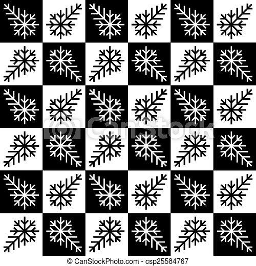 seamless, fundo, snowflake - csp25584767