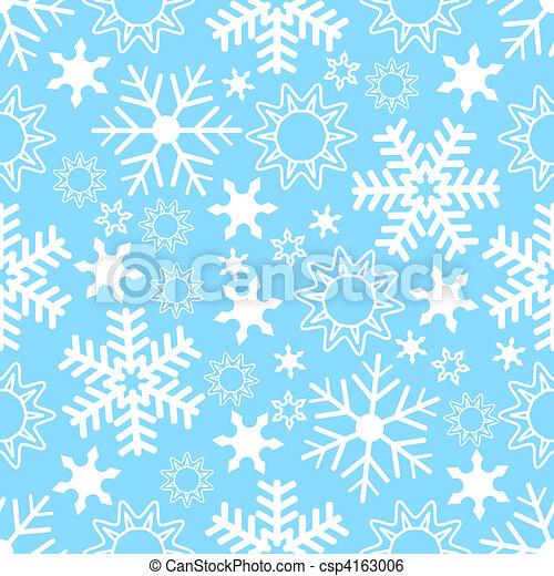 seamless, fundo, snowflake - csp4163006