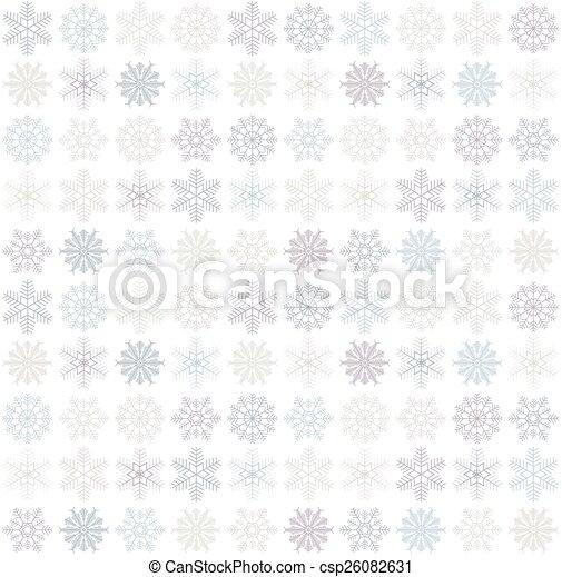 seamless, fundo, snowflake - csp26082631