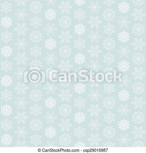 seamless, fundo, snowflake - csp29016987
