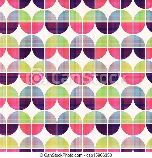 seamless geometric circular pattern - csp15906350
