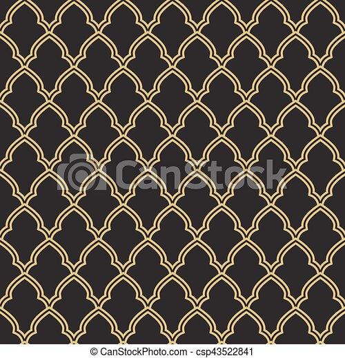 Seamless Geometric Morrocan Trellis Pattern