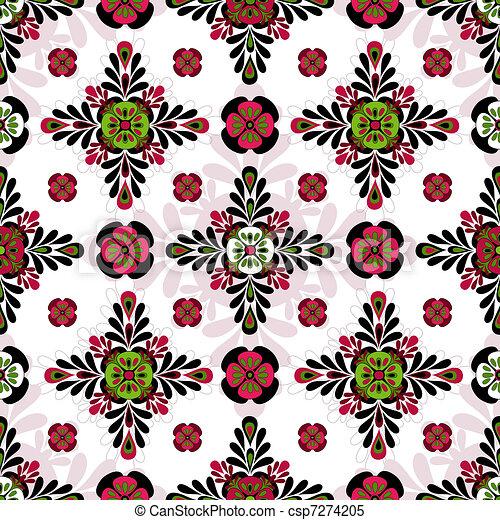 Seamless geometric motley pattern - csp7274205
