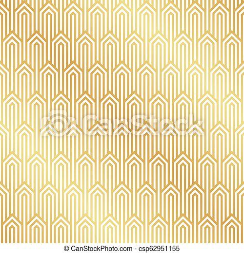 Seamless Gold Art Deco Pattern Background Art Deco Background Wallpaper Canstock