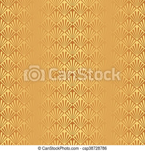 Seamless gold art deco pattern. Seamless art deco pattern... vector ...