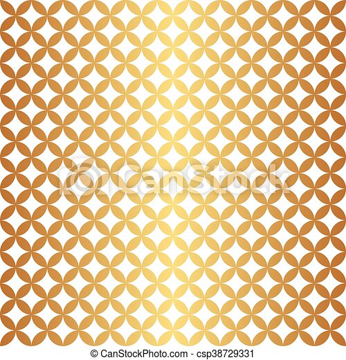 Seamless Gold Circle Pattern - csp38729331