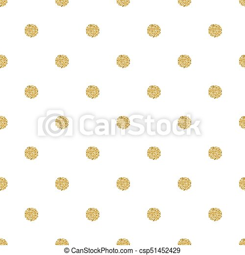 seamless gold dot glitter pattern with white background - csp51452429