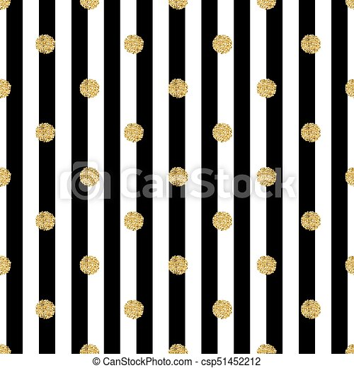 seamless gold dot glitter pattern with stripe background - csp51452212