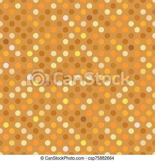 Seamless gold dot pattern background wallpaper. - csp75882664