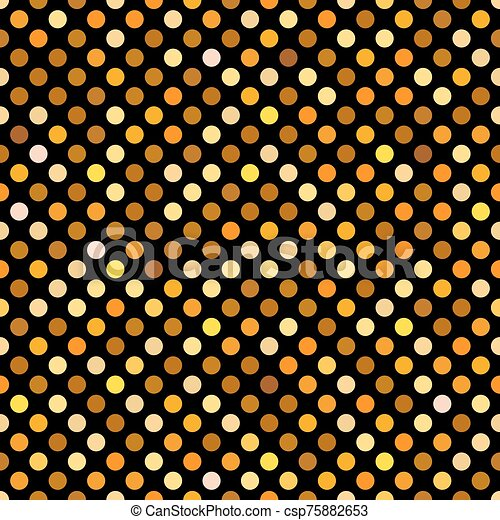 Seamless gold dot pattern background wallpaper. - csp75882653