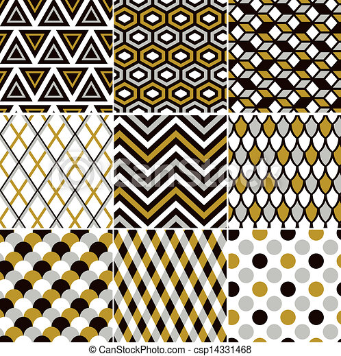 seamless gold pattern print  - csp14331468