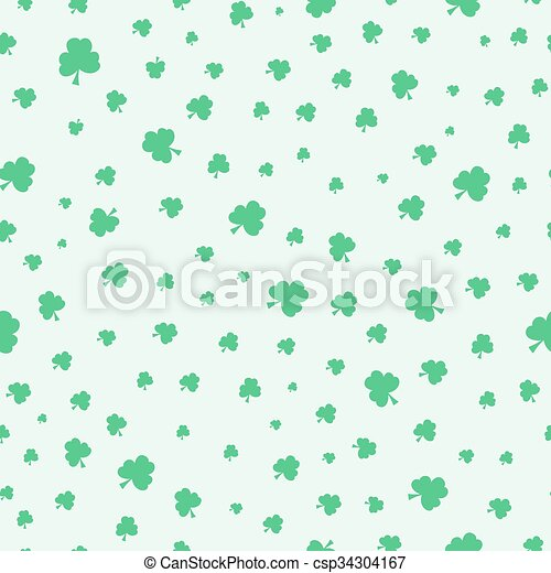 Seamless green clover pattern background