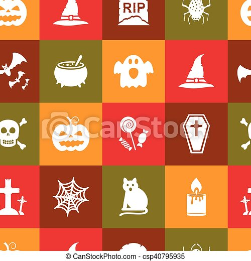Seamless Halloween pattern - csp40795935