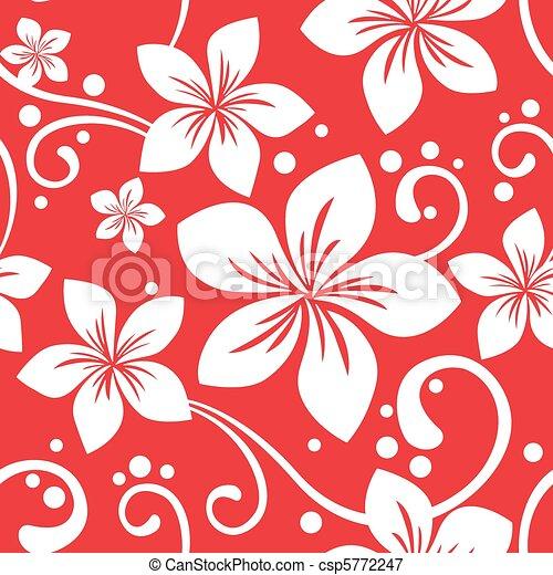 Seamless Hawaiian Christmas Pattern Illustration Of A Seamless Custom Hawaiian Pattern