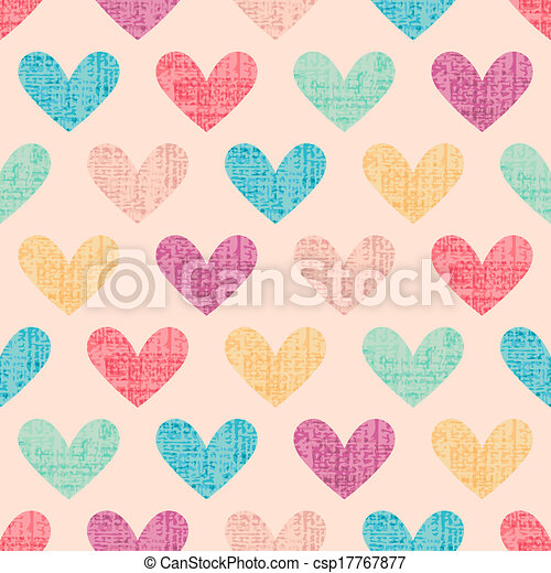 seamless heart pattern background  - csp17767877