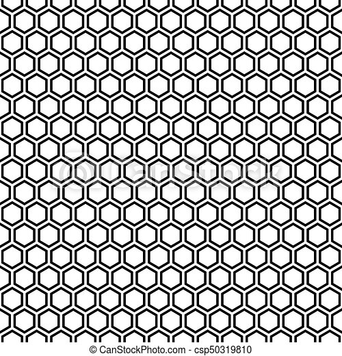 seamless hexagonal honeycomb pattern texture background black and white pattern