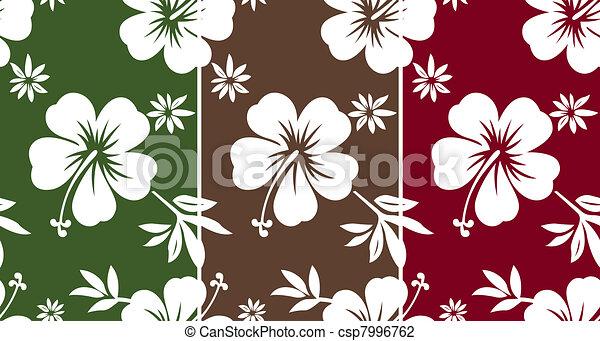 seamless hibiscus fabric pattern - csp7996762