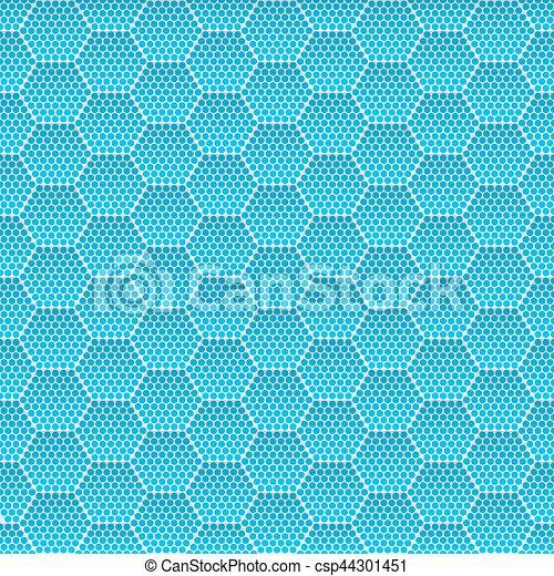 Seamless Honeycomb. Hexagon Background Pattern. Vector - csp44301451